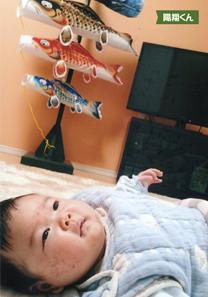 投稿者様:田仲様 タイトル:ケロッとスマイル 鯉のぼりありがとう