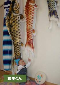 投稿者様:徳田様 タイトル:ぼくの鯉のぼり 投稿者様コメント:初節句と1歳のお誕生日を一緒にお祝いできました♪ 鯉のぼりが泳ぐと、手をパチパチして喜んでくれる姿に癒されました。 毎年この時期が来るのが楽しみです♪